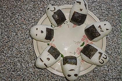 Onigiri mit Lachs und Hähnchen 12