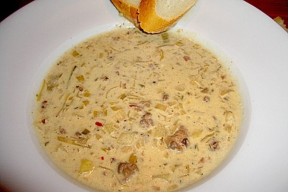 Hackfleisch-Lauch-Suppe 7