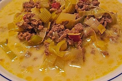 Hackfleisch-Lauch-Suppe 17