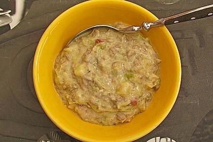 Hackfleisch-Lauch-Suppe 48