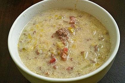 Hackfleisch-Lauch-Suppe 14