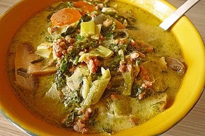 Hackfleisch-Lauch-Suppe 9