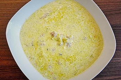 Hackfleisch-Lauch-Suppe 11
