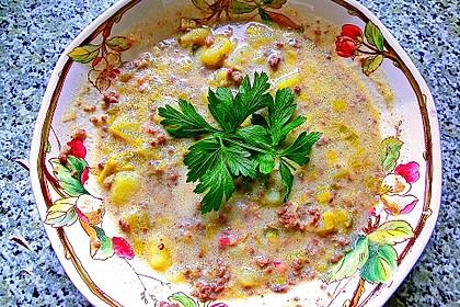 Hackfleisch-Lauch-Suppe 33