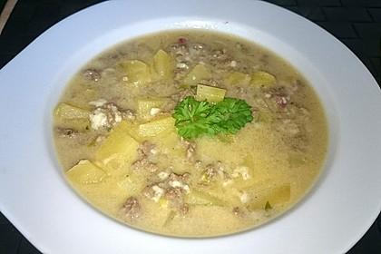 Hackfleisch-Lauch-Suppe 55