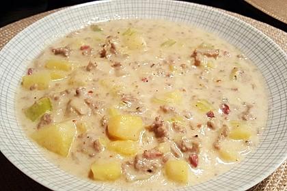 Hackfleisch-Lauch-Suppe 36