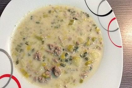 Hackfleisch-Lauch-Suppe 22