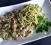 Champignon - Sauce für Pasta