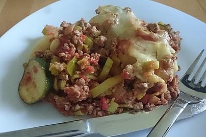 Schupfnudel - Hackfleisch - Auflauf mit Gemüse 3