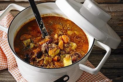 Hack-Gemüse-Suppe à la Martin Liebe 1