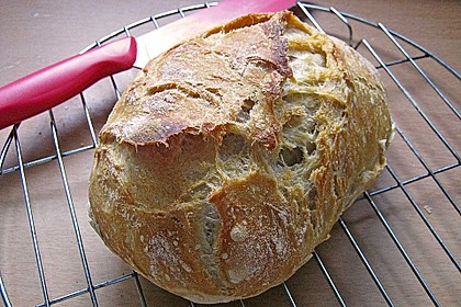No - Knead - Bread mit Frischhefe