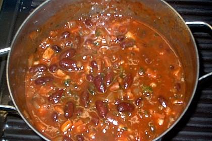 Spaghetti mit Bohnen - Speck - Soße 2