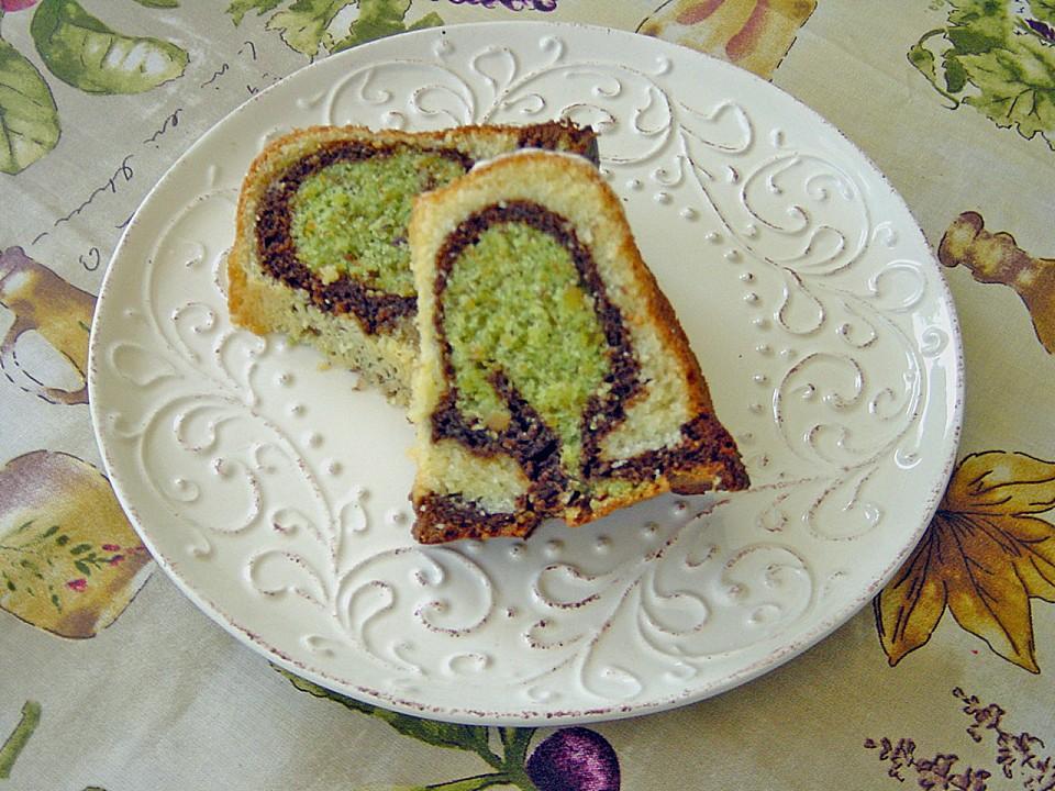 Kuchen mit pistazien
