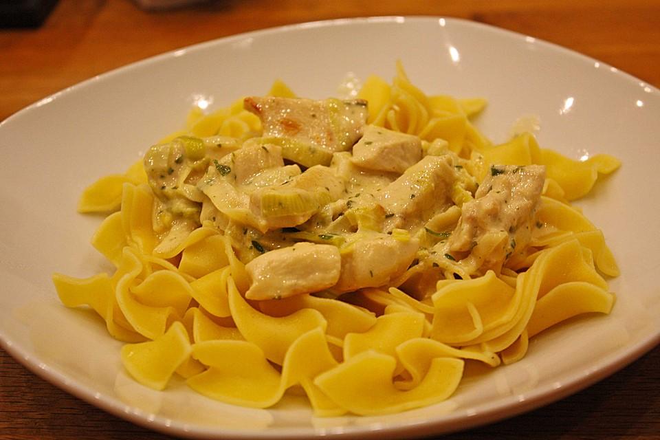 Salat mit hahnchen honig