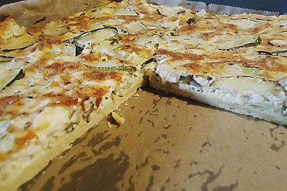 Schafskäse - Zucchini - Quiche 120