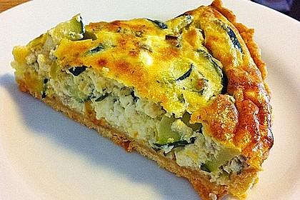 Schafskäse - Zucchini - Quiche 8