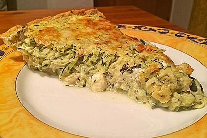 Schafskäse - Zucchini - Quiche 130