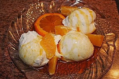 Vanille - Quark - Mousse mit Orangen