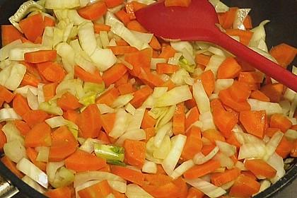 Sanft gegarter Lachs auf Möhren - Orangen - Fenchel - Gemüse 16