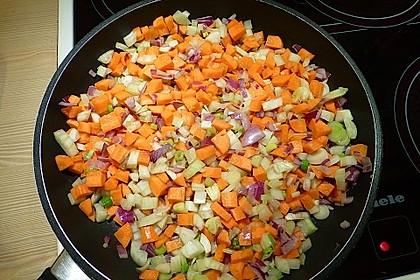 Sanft gegarter Lachs auf Möhren - Orangen - Fenchel - Gemüse 15