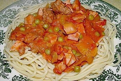 Spaghetti mit Sauce - Allerlei