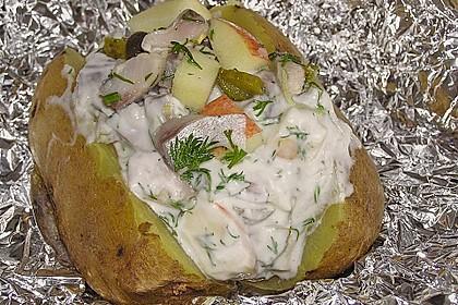 Folienkartoffeln mit Matjes