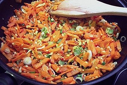 Putengeschnetzeltes mit Karotten - Orangen - Soße 60