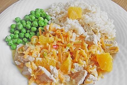 Putengeschnetzeltes mit Karotten - Orangen - Soße 38