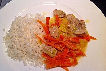 Putengeschnetzeltes mit Karotten - Orangen - Soße 33
