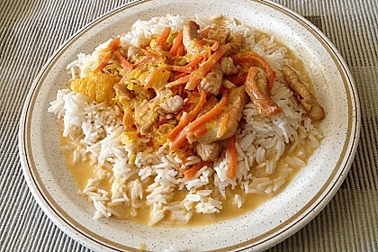 Putengeschnetzeltes mit Karotten - Orangen - Soße 16