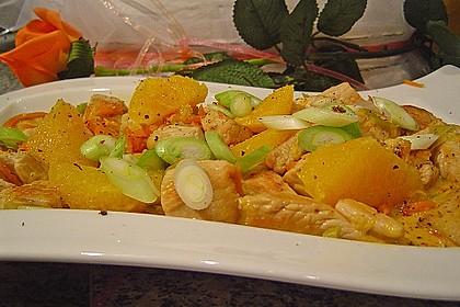 Putengeschnetzeltes mit Karotten - Orangen - Soße 8