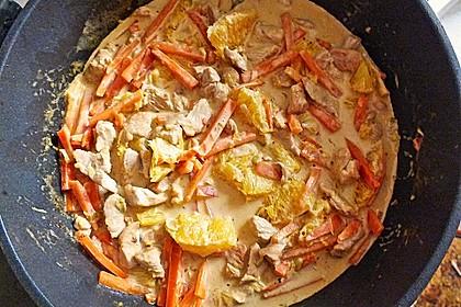 Putengeschnetzeltes mit Karotten - Orangen - Soße 58