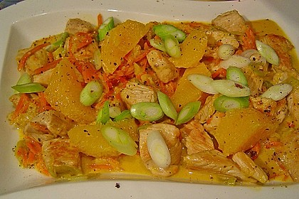 Putengeschnetzeltes mit Karotten - Orangen - Soße 19
