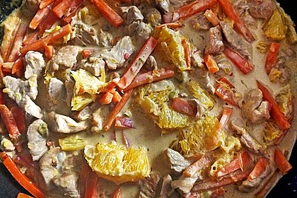 Putengeschnetzeltes mit Karotten - Orangen - Soße 40