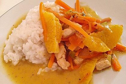 Putengeschnetzeltes mit Karotten - Orangen - Soße 15