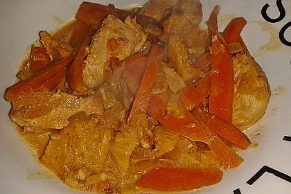 Putengeschnetzeltes mit Karotten - Orangen - Soße 56