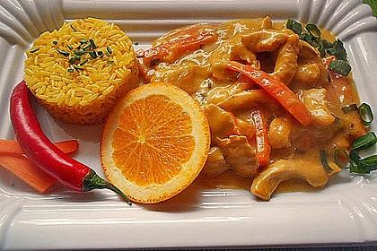 Putengeschnetzeltes mit Karotten - Orangen - Soße 6