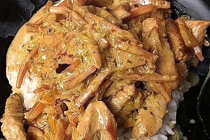 Putengeschnetzeltes mit Karotten - Orangen - Soße 48