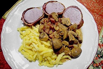 NT - Schweinefilet im Speckmantel mit Champignons und Spätzle 18