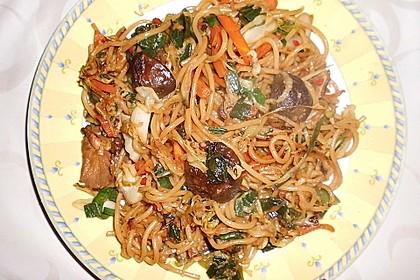Gebratene Nudeln mit Gemüse, asiatisch 6