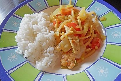 Asiatisch - scharfe Gemüsepfanne mit Ananas 3