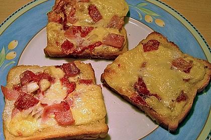 Überbackener Toast