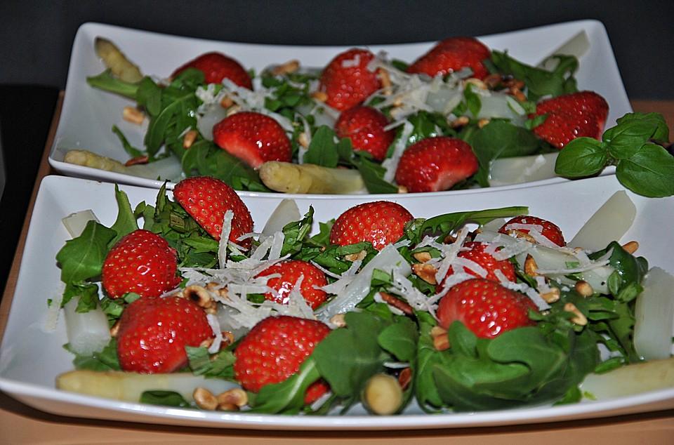 spargel erdbeer salat rezept mit bild von regine. Black Bedroom Furniture Sets. Home Design Ideas