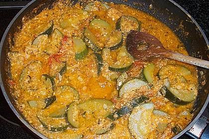 Fisch mit Zucchini - Tomatensauce 2