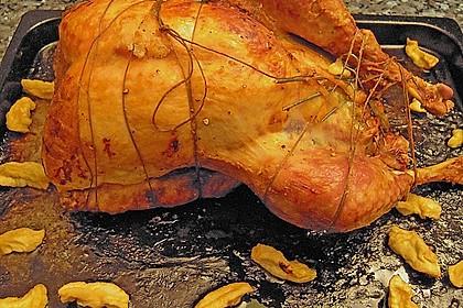 Truthahn mit Calvados - Äpfel - Füllung 6