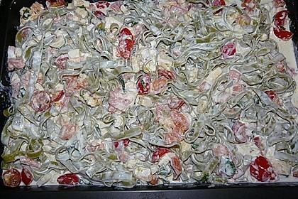 Butternudeln mit Lachs und Mozzarella 19