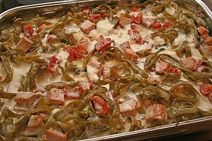 Butternudeln mit Lachs und Mozzarella 3