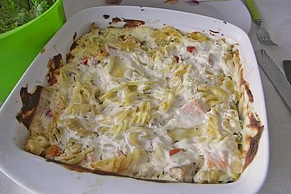 Butternudeln mit Lachs und Mozzarella 12