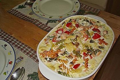 Butternudeln mit Lachs und Mozzarella 7
