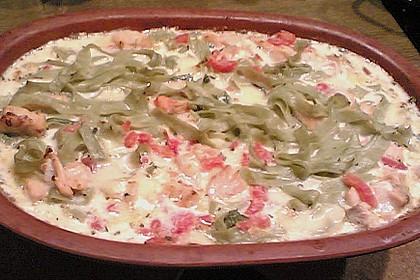 Butternudeln mit Lachs und Mozzarella 20